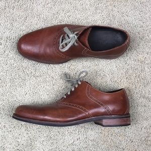 Cole Haan Saddle Oxford Brown Dress Shoes Sz 10.5